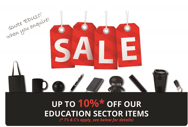 Education Sector Sale on Promotional Items